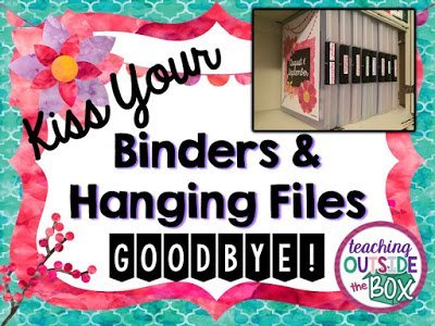 Kiss Your Binders and Hanging Files GOODBYE!