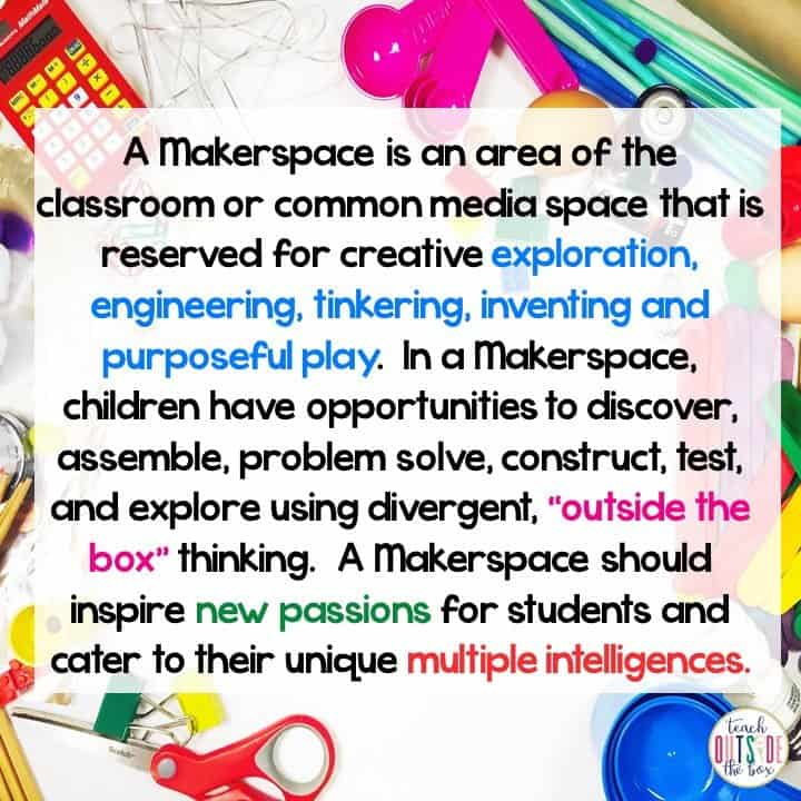 So You Want to Start a Makerspace? - Teach Outside the Box